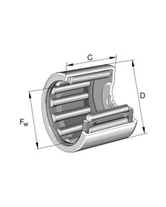 INA BK0609-B Drawn Cup Needle Roller Bearing ,closed end